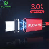 Floveme LED Magnetic USB Type C Cable Fast Charger Cable Data Cord For Samsung