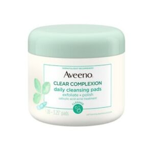 Aveeno Active Naturals Clear Complexion Daily Soy Cleansing Pads 28 Count Sealed