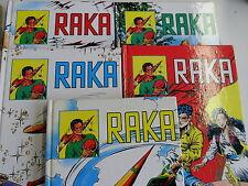 5x Comic - Raka - Nr. 1 + 2 + 3 + 4 + 5