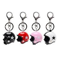 Fashion Motorcycle Safety Helmet Key Chain Keyring Star Women Men Car Key Ring