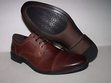 Asher Green Tudor Mens Casual Dress Leather Upper Shoe (Brown) NEW Men Sz 9
