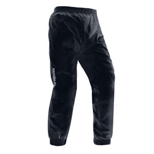Oxford Rainseal Waterproof Motorcycle Motorbike Over Pants Trousers - Black