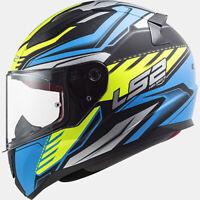 LS2 Rapid Gale schwarz/blau/neongelb - Motorrad Helm - Integralhelm Kart Sport