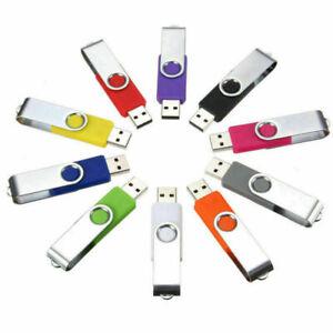 USB Memory Stick Flash Drive Swivel 64GB 32GB 16GB 8GB 4GB 2GB 1GB Laufwerk 1MB
