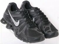 Nike 525257-001 Shox Turbo 13 Black Lace-Up Running Shoes Youth US 5.5Y