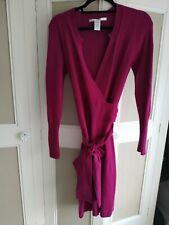 Diane Von Furstenberg Wrap 100% Cashmere Long Cardigan