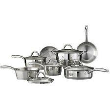 12-Piece Gourmet Cookware Set Stainless Steel Tri-Ply Base Cooking Tramontina