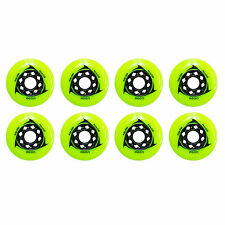 80mm Inline Skate Wheels for speed, aggessive & Hockey (Trurev AGON - Pack of 8)