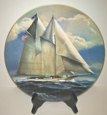 "6 Danbury Mint Great American Sailing Ships Collectors Plates ""The America"""