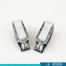 2Pcs White Door Panel Warning Light For AUDI A3 S3 A4 A6 A7 A8 Q3 Q5 TT Skoda