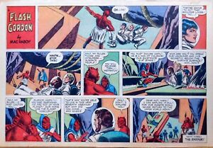 Flash Gordon by Mac Raboy - large half-page color Sunday comic - March 20, 1966