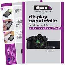6x dipos Panasonic Lumix DMC FZ1000 Schutzfolie klar Displayschutzfolie Folie