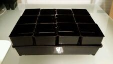 2 seedling trays +  24 Square punnet pots propagation plastic plant (2 sets) NEW