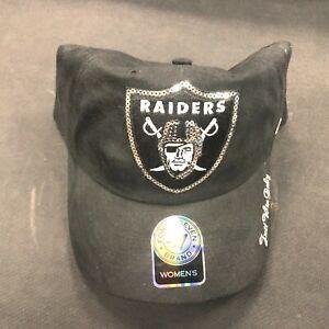 Women's Oakland Raiders Sparkle Twins Ent. Clean-Up Adjustable 47' Hat Cap