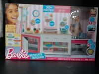 Mattel FRH73 Barbie Kitchen Playset with Doll with 5 Dough Colors and 20+ Pcs