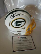 Jordan Love Green Bay Packers Signed Matte White Mini Helmet, FANATICS--COA 🔥🏈