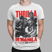 Muhammad Ali V Joe Frazier T-Shirt Thrilla in Manilla Boxing 70s 80s  Retro Gift