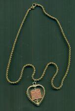 Antique Hebrew Ten Commandments Necklace