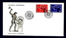 GREECE - GRECIA - 1962 - Europa - Albero con 19 foglie - Common Design Type FDC