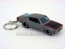 Custom Keychain Hot Wheels Garage 30 Car Set Plymouth HEMI Cuda Metallic Gray