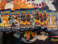 10 XY EVOLUTIONS Booster Pack Lot - Factory Sealed From Boxes Pokemon Cards