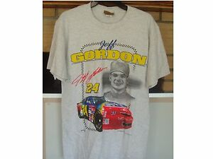 JEFF GORDON #24 Nascar 1996 Size M T-shirt NEW Racing Schedule Vintage