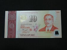 1965-2015 10 DOLLARS SINGAPORE BANK NOTE COMMEMORATIVE NOTE TEN DOLLARS UNC