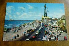 D257 BLACKPOOL Central Promenade Postcard c1967
