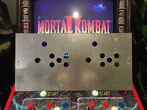 Mortal Kombat 2 Arcade Metal Control Panel MK2 MKII Midway Joystick Overlay CPO
