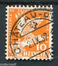 SUISSE, 1932, timbre 255, OISEAUX, COLOMBE, oblitéré, BIRD DOVE
