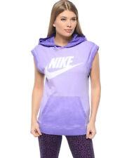SZ M Nike Women's Sleeveless Purple Pullover Soft Hoodie Court 802555-547 $60