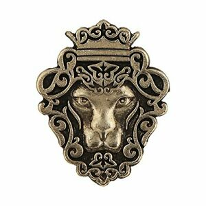 Gold Plated Handmade Lion Face Shape Tie Tack Lapel Pin Brooch for Men's Jewelry