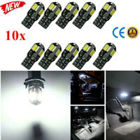 10X Canbus Error Free T10 White 8 5730 SMD LED Car Side Wedge Light Lamp Bulbs x