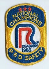 Roadway Express 1985 National champions P&D safety driver patch 4-1/4/X2-3/4
