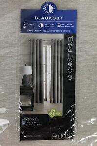 JC Penney Home Blackout Grommet Curtain 1 Panel Wallace Soft Platinum