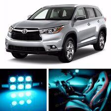 14pcs LED ICE Blue Light Interior Package Kit for Toyota Highlander