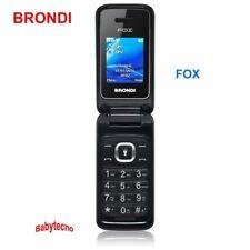 CELLULARE Brondi FOX Vivavoce Dual Sim QUADRIBAND RADIO microSD Slot Bluetooth I