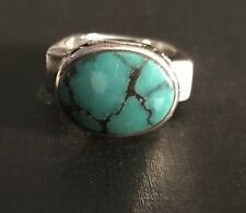 Silpada .925 Sterling Silver Turquoise Ring Size 6 R0786