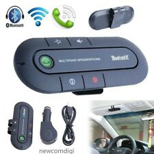 Slim Magnetic Bluetooth Hands Free In Car Wireless Speaker Phone Kit Visor Clip