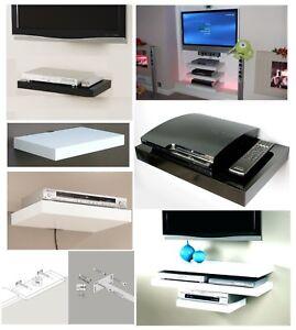 Floating Media Shelves Shelf For DVD SKY BOX TV AV Xbox Wall Mounted Unit Kit