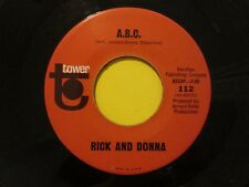 Rick And Donna What Good Is Love b/w A.B.C. Tower 112 45
