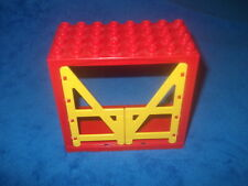 Lego Duplo Haus Gebäude Rot Giraffenhaus Türen Gelb Rot Stall Alt