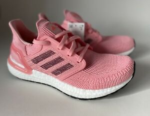 Adidas Womens Ultraboost 20 EG0716 Glory Pink Running Shoes Lace Up Size 6.5
