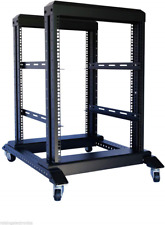 RAISING ELECTRONICS 15U 4 Post Open Frame 19'' Server/Audio Steel Rack 22'' Deep