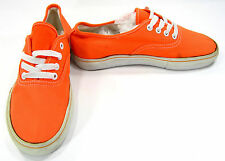 Levi's Shoes Casual Lo Canvas Orange Sneakers Men 5 Womens 7