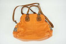 Women's Big Buddha Orange Large Handbag / Satchel w/ Geometric Design