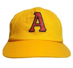 "Vintage Adelaide Crows ""A"" Yellow Hat BASS Toyota Coca Cola AFL Cap RARE"