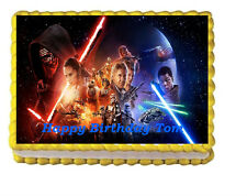 Star Wars the force Awakens Edible Cake Topper 1/4 sheet Personalized