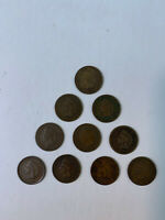 Indian Head Cent 10 Diff 1880,1889,1892,1893 (2),1895,1896,1903,1905,1908 Circ.