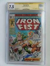Iron Fist #14 (Aug. '77) CGC 7.5 OW/W SS Chris Claremont 1st Sabretooth X-MEN